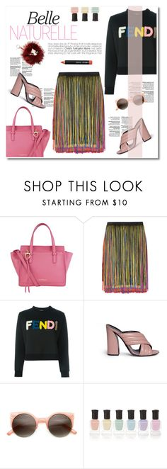 """belle"" by limass ❤ liked on Polyvore featuring Salvatore Ferragamo, Christopher Kane, Fendi, Gucci, Deborah Lippmann and Bobbi Brown Cosmetics"