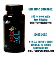 Yipppeee!!  Saba ACE G2 is a BIG HIT!!  Stronger Appetite Control and the Energy is Perfection and I am lovvvving the Mood Enhancers!  I have lost 17 lbs in 4 weeks!  Yipppeee!!  Place your one-time order at http://aceg2diet.com or become a Saba Preferred Customer at http://sabawholesale.com for only $49 +sh/tax!