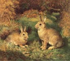 Rabbits by Horatio Henri Couldery (1832-1918)
