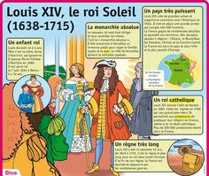 Educational infographic : Fiche exposés : Louis XIV le roi Soleil Ap French, French History, Learn French, French Teaching Resources, Teaching French, French Phrases, French Words, Teaching Culture, French Education