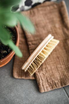 Komposztálható zöldség- és gyümölcstisztító kefe fa nyéllel és növényi sörtékkel. Hulladékmentes konyha. Fa, Cinnamon Sticks, Spices, Spice
