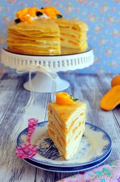 How to Make Mango Crepe Cake 芒果法式薄餅千層蛋糕 -- Crepe Cakes are popular desserts in the Chinese Bakeries these day. Get the recipe and learn how to make one at home.