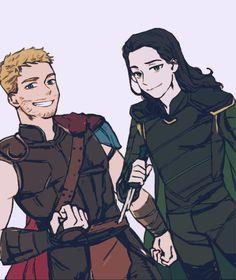 Thor and Loki Thor X Loki, Loki Art, Marvel Dc Comics, Marvel Avengers, Otaku, Anime Version, Marvel Wallpaper, Tom Hiddleston Loki, Loki Laufeyson