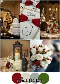 Red Ivory Silver And Green Elegant Christmas Wedding Colour Scheme Weddings