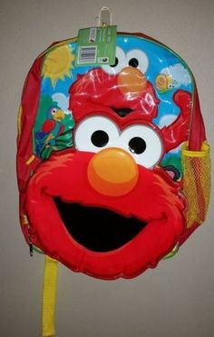 Elmo Backpack With Attached Insulated Cooler Bag