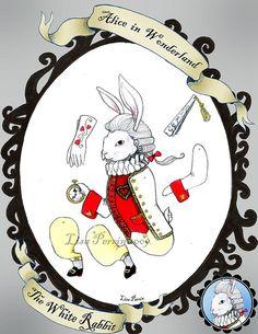 Alice in Wonderland Paper Dolls - The White Rabbit