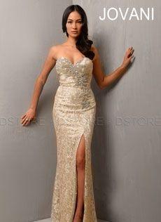 9d88067f1ea Vestido de Festa Longo em Renda com Pedraria e Fenda Gene 702   Dstore  Miami