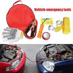 Product Name: Auto Emergency Tool Set Note: Do not connect the black negative clip to the car battery negative electrode, especially, the parts whic Car Tools, Portable Battery, Tool Set, Flashlight, Connect, Purpose, Vehicles, Black, Motorbikes