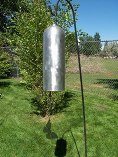 Wind Chimes Garden Bell Gong Giant Huge Patina Rust By