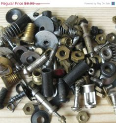 20% OFF 42 gr Clock Parts, Jewelry Making, Antique Metal Parts, Steampunk Gears, Mixed Media, Vintage Clock Pieces, Steam Punk Art