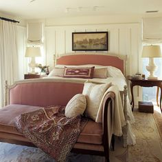 Classy Beach House with White Color Domination: Beautiful Classic Bedroom Traditional Sofa Maine Beach House