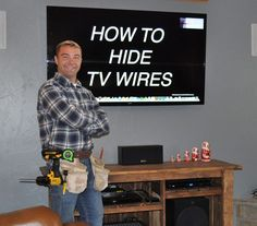 Learn how to hide tv wires behind the wall by watching Pete's Do It Yourself video tutorial. His method is code compliant, simple, and safe to do.