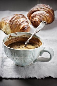 Coffee & Croissants. A well rounded breakfast if you ask me!