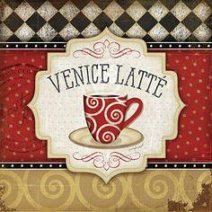 Coffee Painting - Venice Latte by Jennifer Pugh