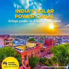 #India's latest #solar innovation is capable of bringing #solar to 1.5 million homes along the #irrigation canals of #Gujurat. Read more about this landmark project here: https://www.australiansolarquotes.com.au/2015/05/03/india-solar-power-canal-project/?utm_content=buffer04709&utm_medium=social&utm_source=pinterest.com&utm_campaign=buffer  #RenewableEnergy #AusSolarQuotes #News