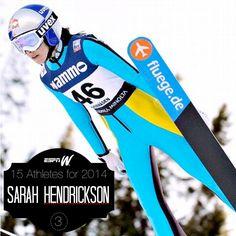 Sarah Hendrickson, reigning U.S. women's ski jumping champ.