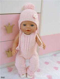 Barbie Knitting Patterns, Knitting Dolls Clothes, Crochet Baby Clothes, Knitted Dolls, Doll Clothes Patterns, Doll Patterns, Girl Dolls, Baby Dolls, Baby Born Clothes