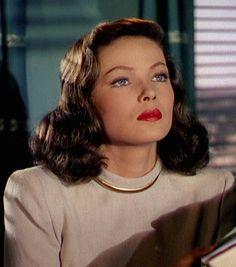 Classic forties make-up look. Gene Tierney in 'Leave her to Heaven' (Que el cielo la juzgue), 1945
