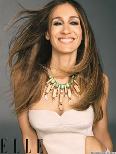 sarah jessica Parker wearing a gorgeous necklace!