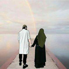 #BakhtawerBokhari Love Cartoon Couple, Cute Couple Art, Cute Love Cartoons, Cute Muslim Couples, Muslim Girls, Cute Couples, Muslim Brides, Dc Superhero Girls Dolls, Couple Goals Teenagers Pictures
