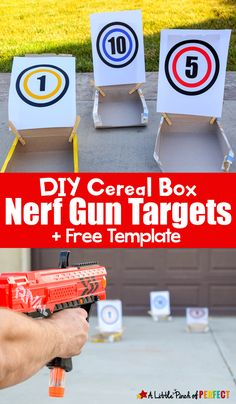 DIY Cereal Box Nerf