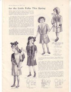 Victorian Fashion Children's Fashions March 1912 Mc Calls (Image1)