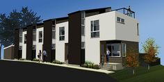 Four Modern Townhouses - lubowicki architecture - modern architecture denver, colorado