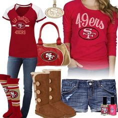 San Francisco 49ers outfit.....OMG I want all of this!