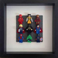 Frame Lego Super Heroes in a shadow box.