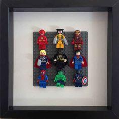 Frame Lego Super Heroes in a shadow box.