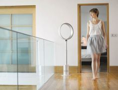 The Dyson Air Multiplier Pedestal Fan is easy to adjust and easy to clean. It features variable airflow control and push button on remote to quickly adjust air flow power. 21st Century Homes, Pedestal Fan, Tower Fan, Floor Fans, Energy Saver, Air Humidifier, Smart Home, Household Items, Home Appliances