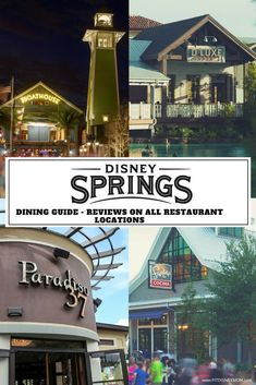 Disney Springs Restaurants: Roundup of reviews for ALL dining locations at Disney Springs Orlando, in Walt Disney World. Use this guide to for Disney World planning tips!