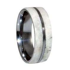 Deer Antler Tungsten Wedding Bands