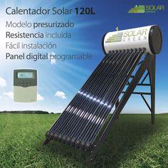 Calentador Solar Presurizado Tubos 120L PT120, sistema foto-térmico capaz de capturar la energía térmica del sol para usarla en el calentamiento de agua