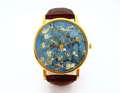 Van Gogh Watch Almond Blossoms Unisex Floral by 10northcreative