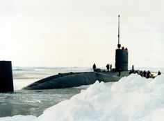 HMS Turbulent S-87 at the North Pole in 1988.
