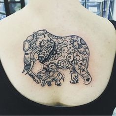 My Elephant Tattoo for me and my girly. Mother and Daughter. Love. Strength. Compassion.