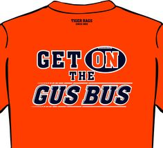 Get on the Gus Bus - Orange - Adult Short Sleeve