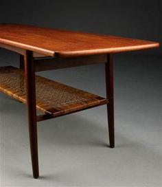 Sofabord, teaktræ / sjeneflet, 1950'erne