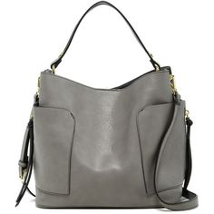 Steven By Steve Madden Foal Colorblock Hobo ($40) ❤ liked on Polyvore featuring bags, handbags, shoulder bags, grey multi, steven by steve madden handbags, gray shoulder bag, tassel handbag, steven by steve madden and shoulder strap handbags