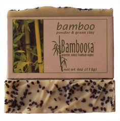 Bamboosa: Bamboo Powder, Green Clay Soapbar $7.25