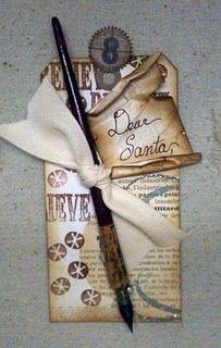 Dear Santa Vintage Pen Tag