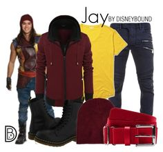 Jay by leslieakay on Polyvore featuring polyvore, fashion, style, Dr. Martens, Neff, Disney, Balmain, Orlebar Brown, Under Armour, disney, disneybound and disneycharacter