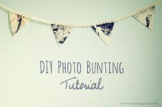 DIY Photo Bunting    #Whimsical #Unique #Wedding