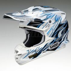 2013 Shoei Vfxw Motocross Helmet - K-dub 3 -TC2 - Blue - Shoei Motocross Helmets - Motocross Helmets - Motocross Kit - by Shoei