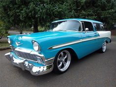 "1956 Chevrolet Nomad - This car is effectively the first ""Cross Over Sport Utility"" vehicle. But, back in '56, who new?"