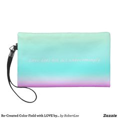 Re-Created Color Field with LOVE by Robert S. Lee Wristlet Purses #Robert #S. #Lee#love #Scripture #Bible #Jesus #Christ #Lord #God #art #graphic #design #colors #bag #wristlet #purse #ladies #girls #women #love #style #fashion #accessory #for #her #gift #want #need #love #customizable