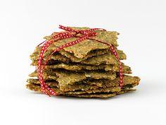 Kryddigt fr�kn�cke   Recept.nu Gluten Free Recipes, Bread Recipes, Homemade Gifts, Free Food, Goodies, Herbs, Vegan, Baking, Desserts