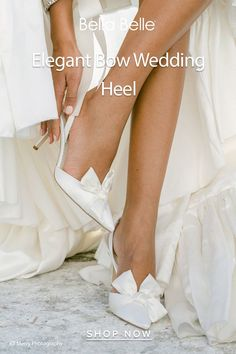 Feel like Ariana Grande or Hailey Bieber with this elegant wedding shoes with a statement making oversized silk bow at the front. Wedding Bows, Wedding Heels, Ivory Wedding, Bridal Heels, Comfortable Heels, Pointed Toe Heels, Wedding Trends, I M Engaged, Shots Ideas