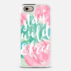 Stay Wild and Free -  Phone Case by Frost Design Co. for Casetify www.casetify.com/frostdesignco